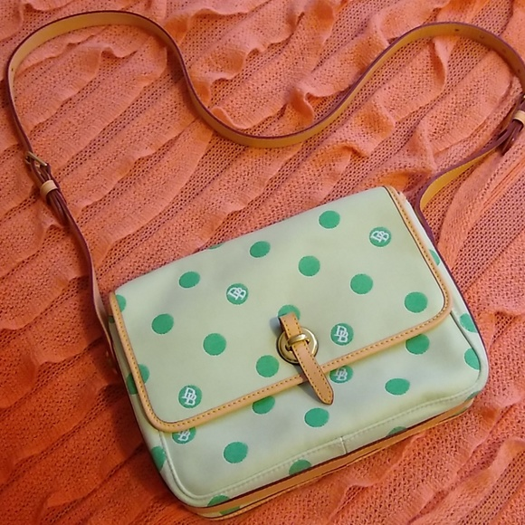Dooney & Bourke Handbags - Dooney Polka Dot Crossbody 7.5x9.5x3""""